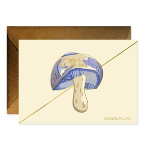 Periwinkle Mushroom Stationery Boxed Set Of 6 Cards