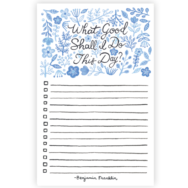 What Good Shall I Do? Lined Notepad