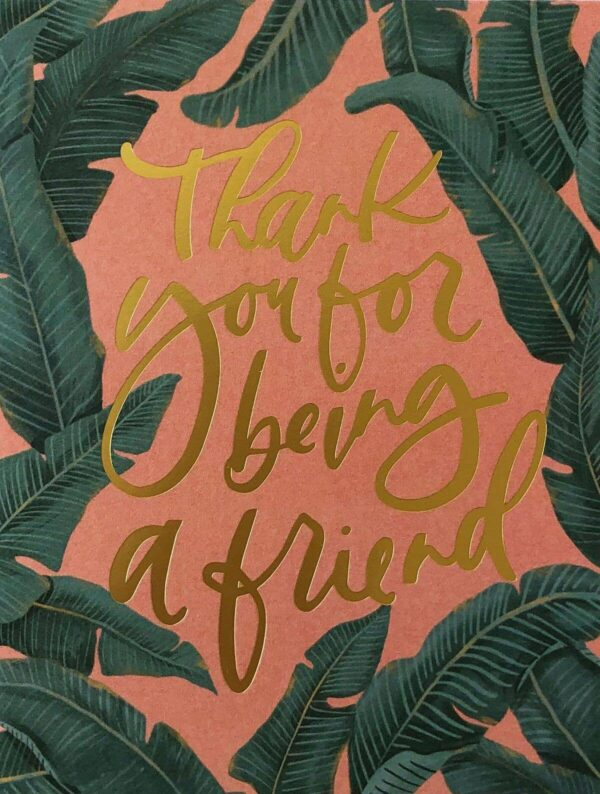 Thank You For Being a Friend Gold Foil-Pressed Cards Set of 8