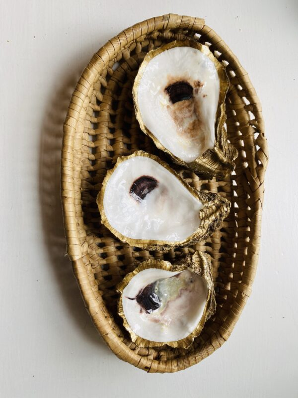 Gold Oyster Jewelry Dish