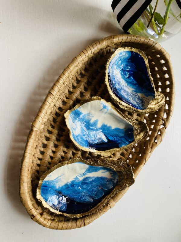 Ocean Gilded Oyster Jewelry Dish with Gift Box
