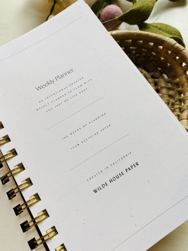 Flora Weekly Planner with Self-Care Prompts