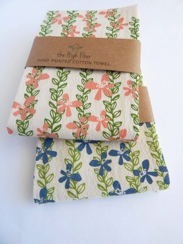 Floral Vine Kitchen Towel, Tea Towel