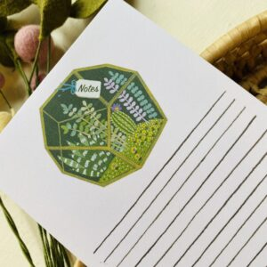 Geometric Terrarium Lined Notepad