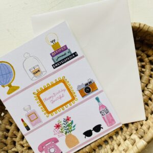 Beauty Shelfie Birthday Card