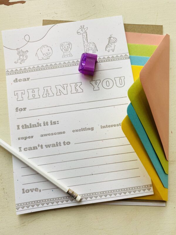 Thank You Notes Kit for Kids