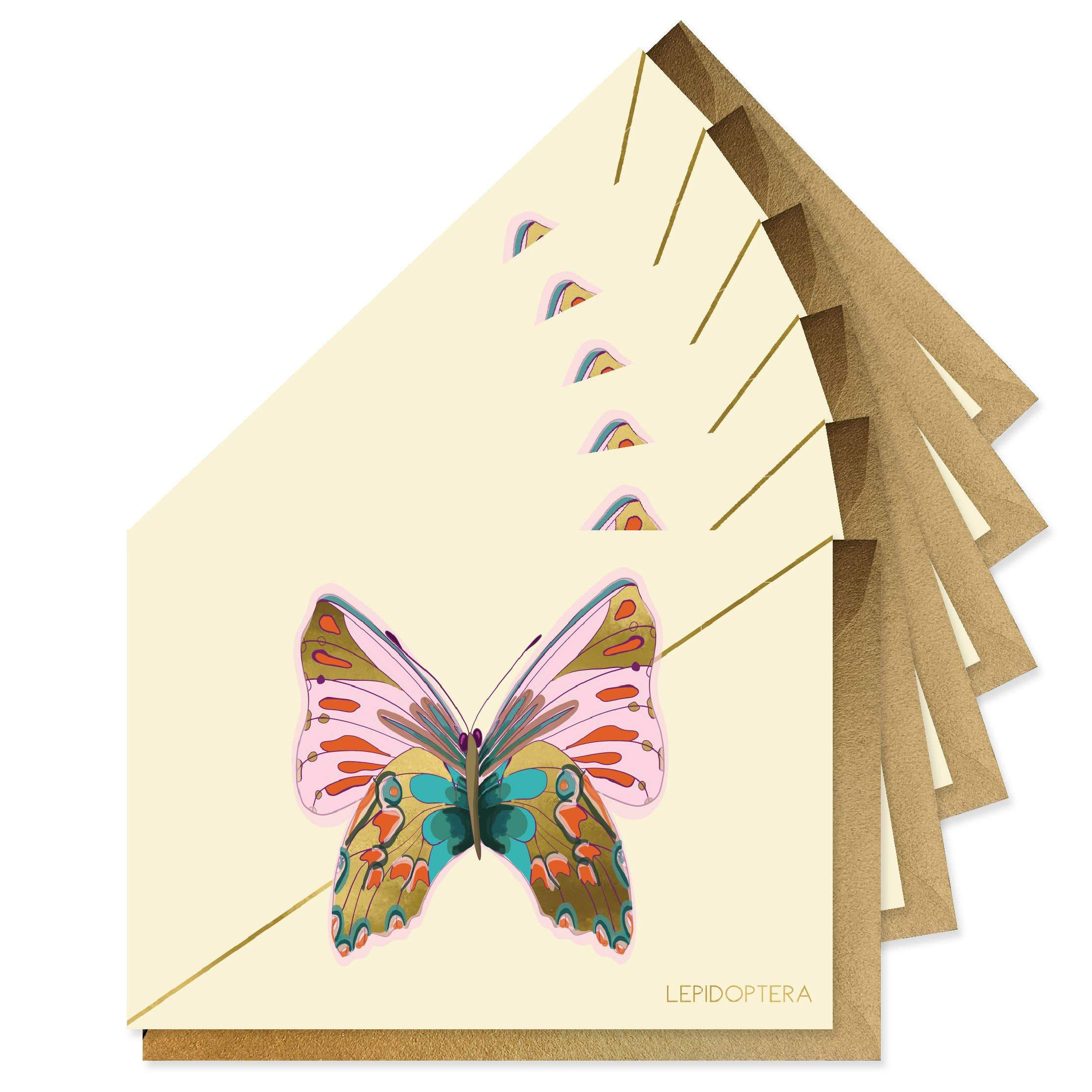Rose Monarch Stationery Boxed Set Of 6 Cards