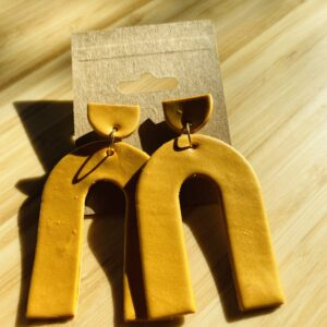 Mustard Arch Earrings